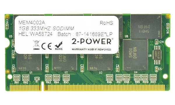 Satellite M30X-167 1GB PC2700 333MHz SODIMM